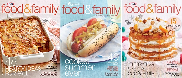 FREE Subscription to Kraft Food and Family Magazine