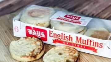California Club English Muffin Sandwich – With Bays English Muffins