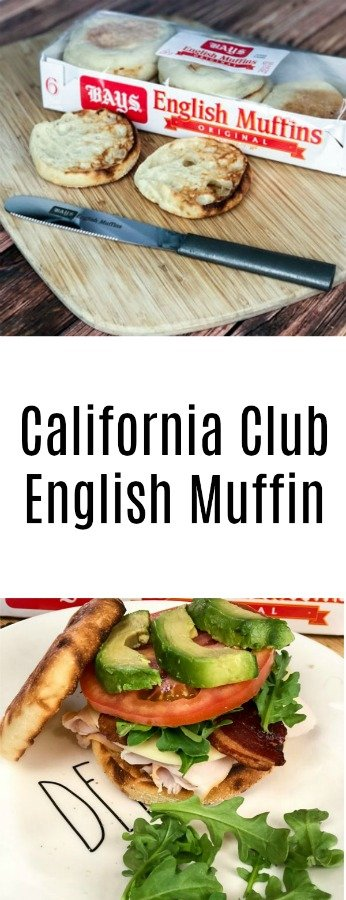 California Club English Muffin Sandwich - With Bays English Muffins