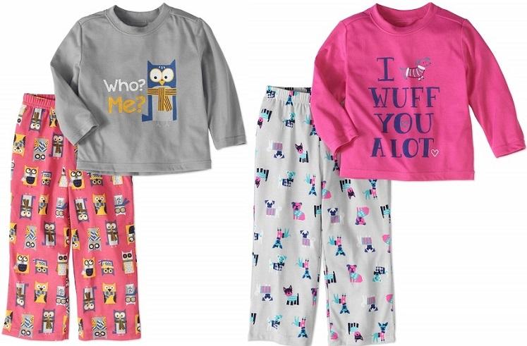 Toddler Girl 2-Piece Pajama Sets Only $5.00 at Walmart.com