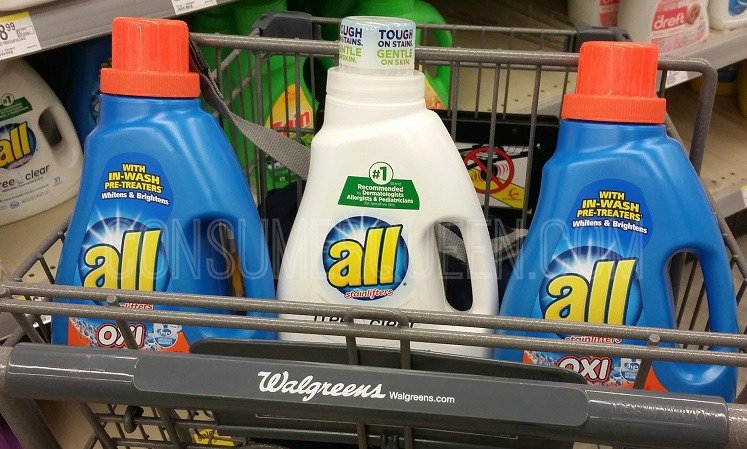 All Detergent 49¢ at Walgreens With New Coupons