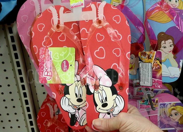 Score Licensed Disney Flip Flops for $1.00 at Dollar Tree