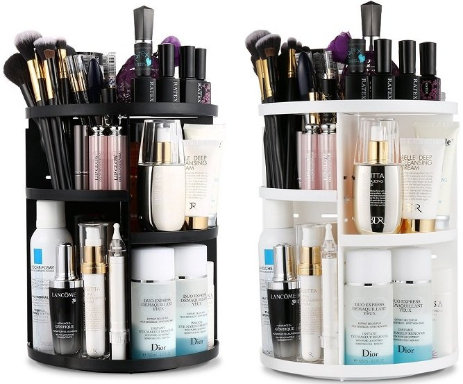 Jerrybox Rotating Multi-Level Cosmetic Organizer $12.99