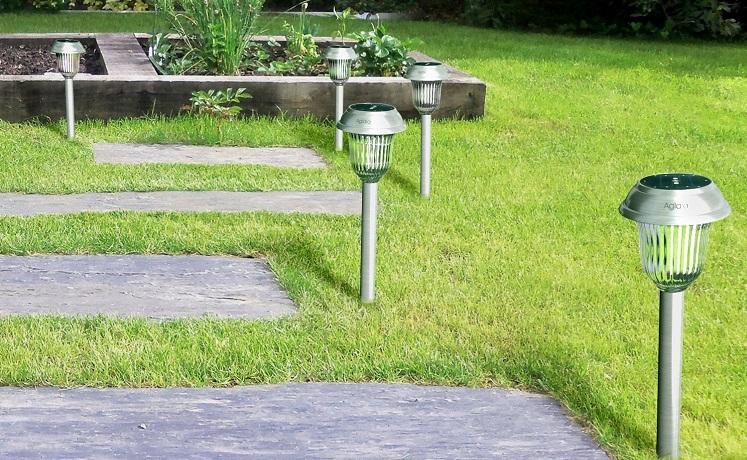 Amazon: Aglaia Solar Garden Outdoor Pathway Lights 6Pk $14.99