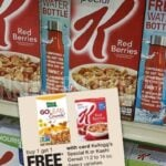 Four Special K Cereal + FREE Water Bottle for Only $5