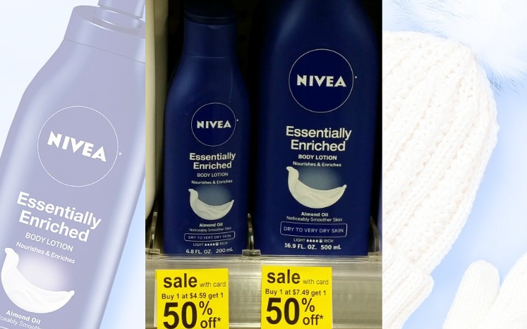 Nivea Essentially Enriched Body Lotion 92¢ at Walgreens