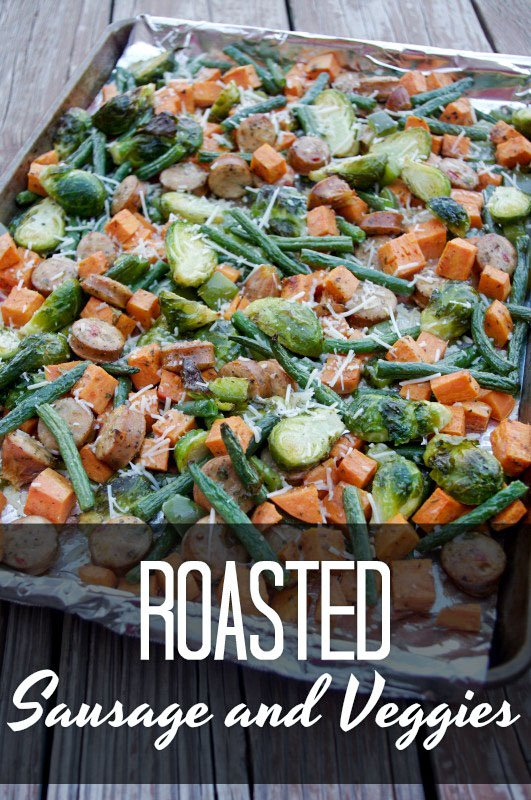 Roasted Sausage and Veggies Recipe - A Healthy Summer Dish!