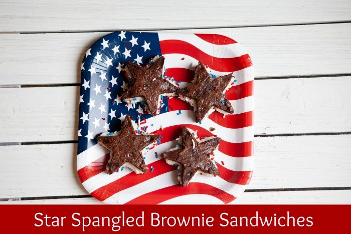 Star Spangled Brownie Sandwiches