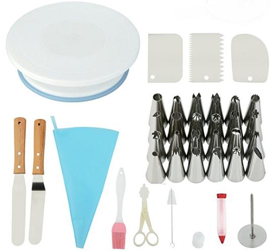 Amazon: Letmall Cake Decorating Supplies Kit $18.32
