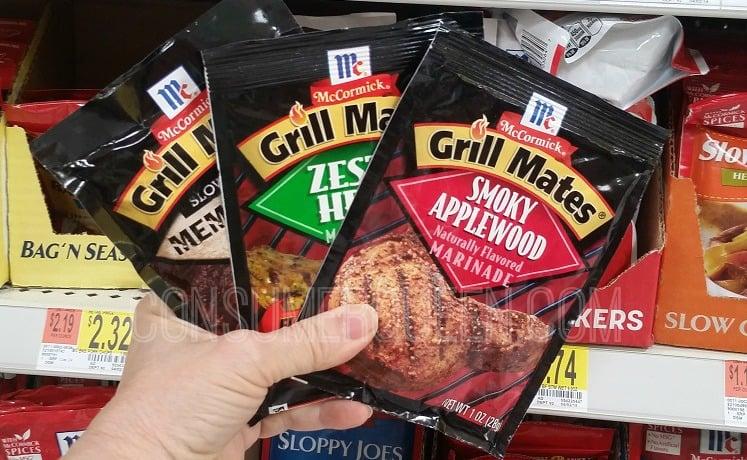 THREE McCormick Grill Mates FREE at Walmart After Cash Back