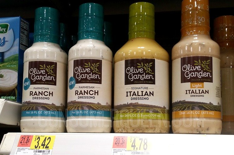 Olive garden parmesan ranch dressing coupon walmart deal Olive garden salad dressing walmart