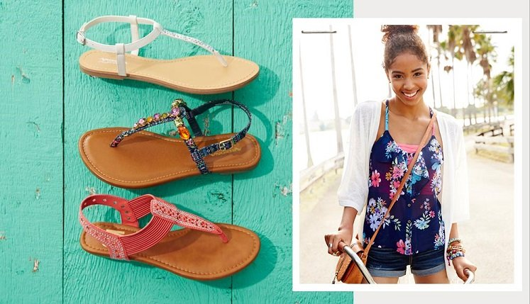 7ca1d99f95aa Womens Sandals Buy One Get TWO Free at JCPenney