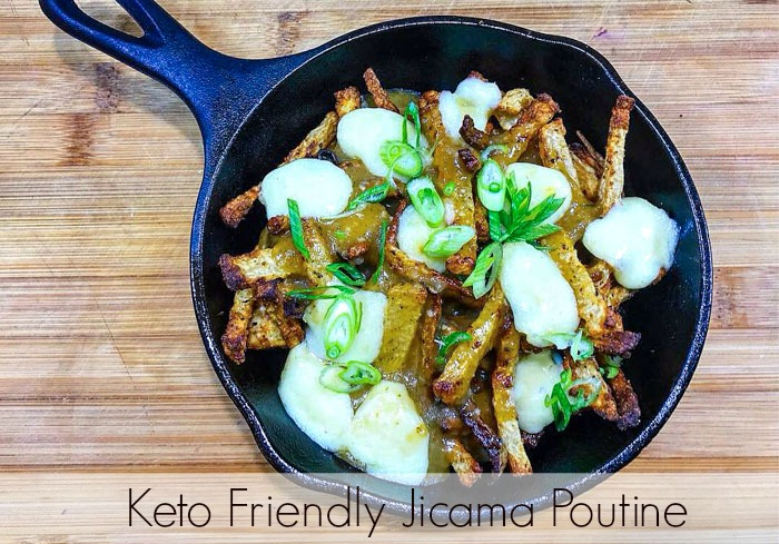 Keto Friendly Jicama Poutine Recipe Pinterest