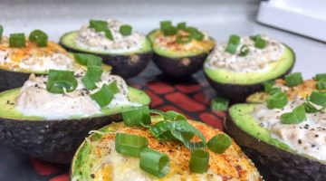 Tuna Stuffed Avocado { Low Carb/Keto Friendly }