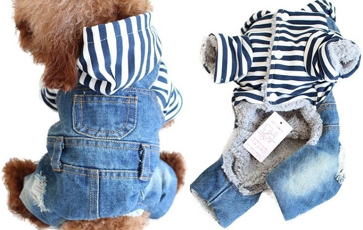 How Cute! Blue Jeans Jumpsuit for Dogs Only $9.09 From Amazon