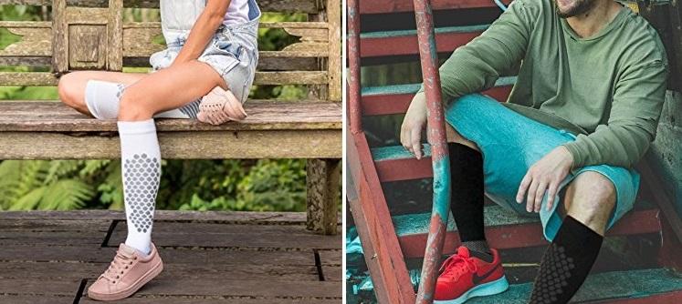 Amazon: Compression Socks For Women/Men 2 Pairs $6