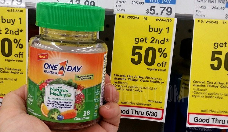 One-A-Day Nature's Medleys 89¢ – Grab Yours at CVS Today!