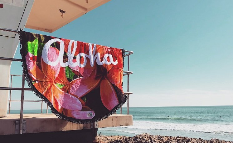 100% Cotton Round Beach Towels ONLY $8.88 (Reg. $26.98)