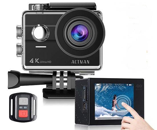 Amazon: ACTMAN Touch Screen 4K Waterproof Camera $34.99
