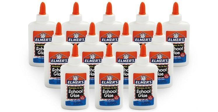 Amazon: Elmer's Liquid School Glue, Washable, Pack of 12 $9.61 (Reg. $27.60)