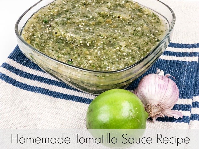 Homemade Tomatillo Sauce finished Pinterest
