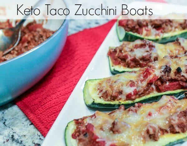 Keto Taco Zucchini Boats Pinterest