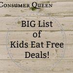 Kids Eat Free Deals Good on Tuesdays!