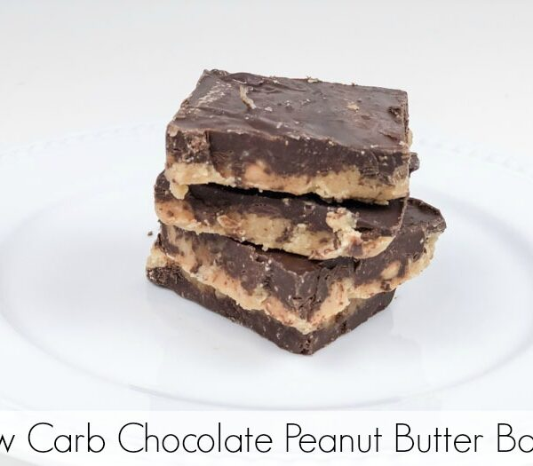 Low Carb Chocolate Peanut Butter Bark