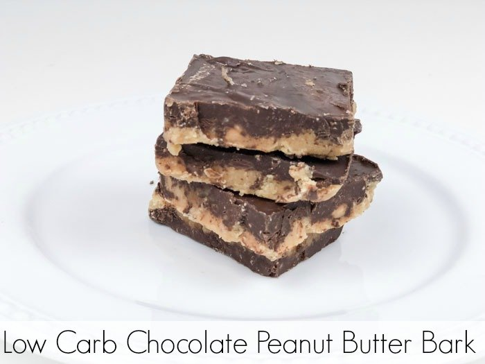 Low Carb Chocolate Peanut Butter Bark Pinterest