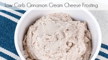 Low Carb Cinnamon Cream Cheese Frosting {Keto Friendly}