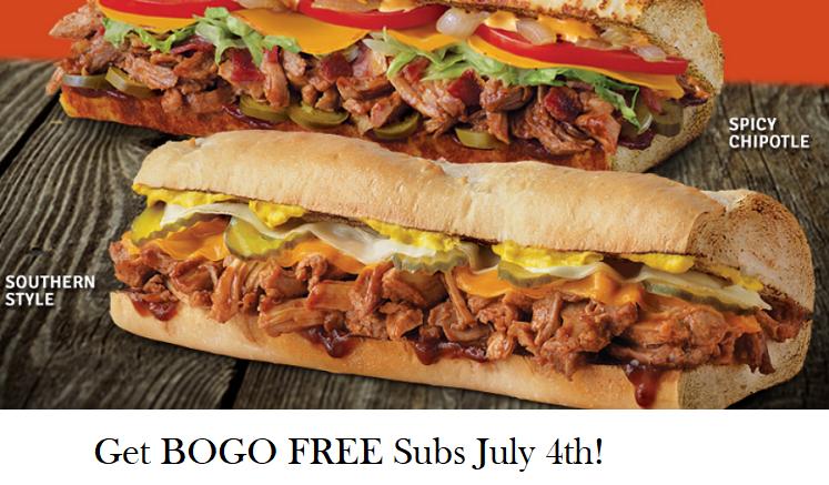 Quiznos BOGO Free Pulled Pork Sub Through July 8th!