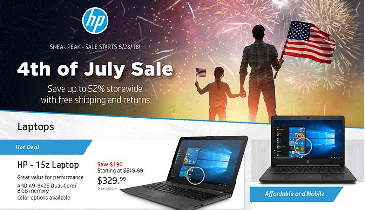 Save Big with Savings.com & HP 4th of July Sale!