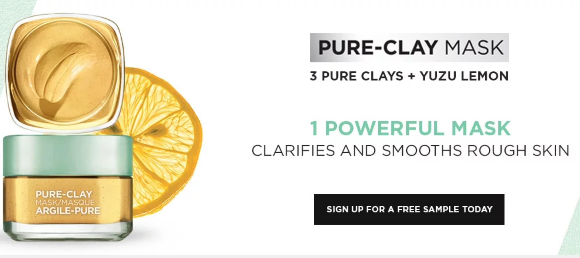 Free Loreal Pure Clay Mask Sample
