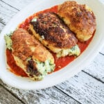 Spinach and cheese stuffed chicken breasts plated (1 of 1)
