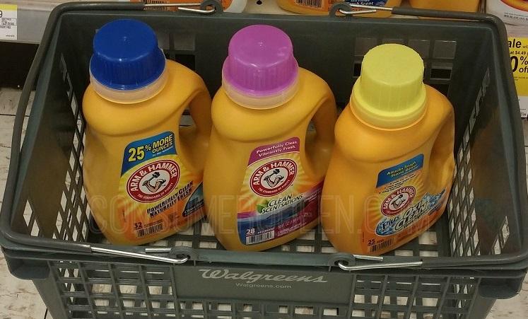 Arm and Hammer Detergent 98¢ at Walgreens, 99¢ at CVS