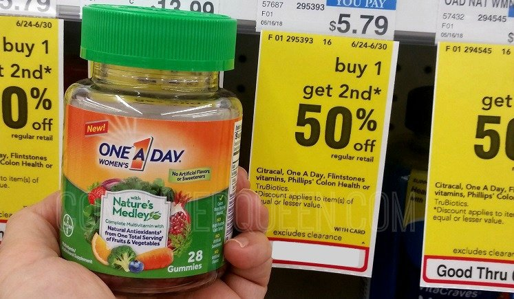 One A Day Natures Medley Multivitamins 89¢ Each at CVS!
