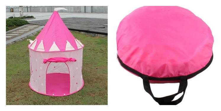low priced a06b9 77d62 Amazon: Princess Castle Pop Up Play Tent $14.99 (reg. $49.99)