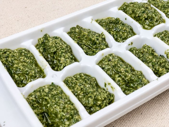 Homemade Pesto Sauce Icetray (1 of 1)