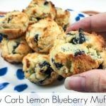 Low Carb Lemon Blueberry Muffins {Keto Friendly}