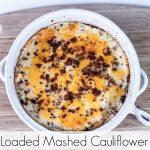 Loaded Mashed Cauliflower done Pinterest