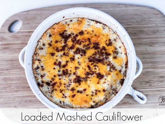 Loaded Mashed Cauliflower done Pinterest