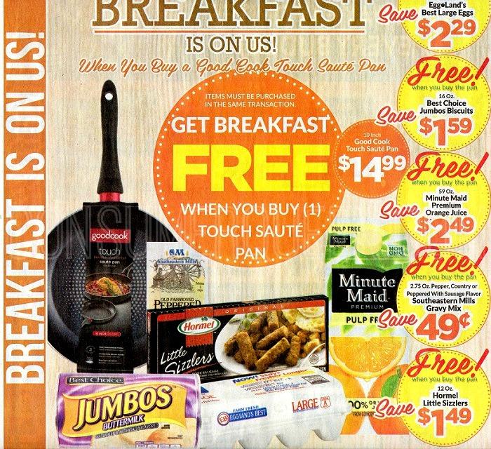 FREE Breakfast Foods WYB GoodCook Saute Pan at Homeland