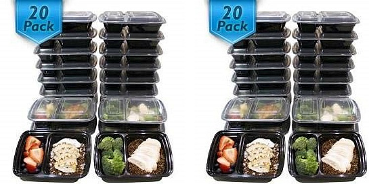 Meal Prep Containers 20-ct. Only $11.55 on Amazon