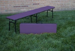 Pack Of 2 Cosco 6 Ft Indoor Outdoor Center Fold Benches