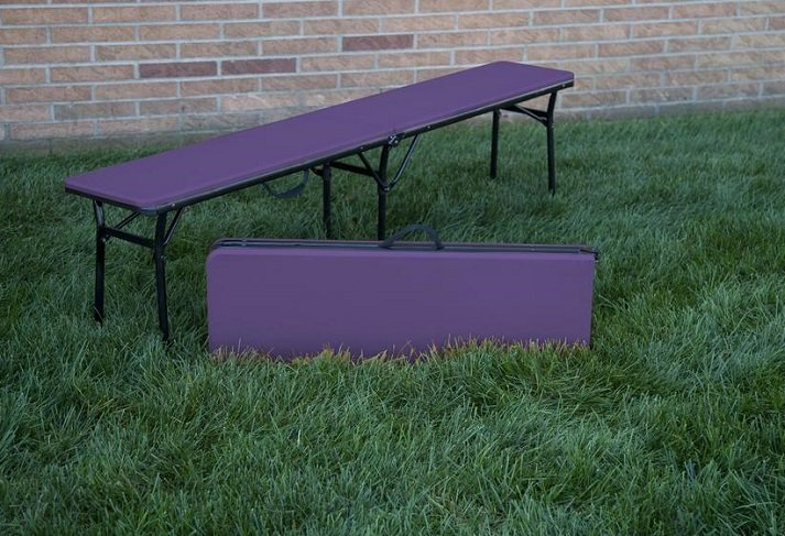 Pack of 2 COSCO 6 ft. Indoor Outdoor Center Fold Benches $29 At Amazon!