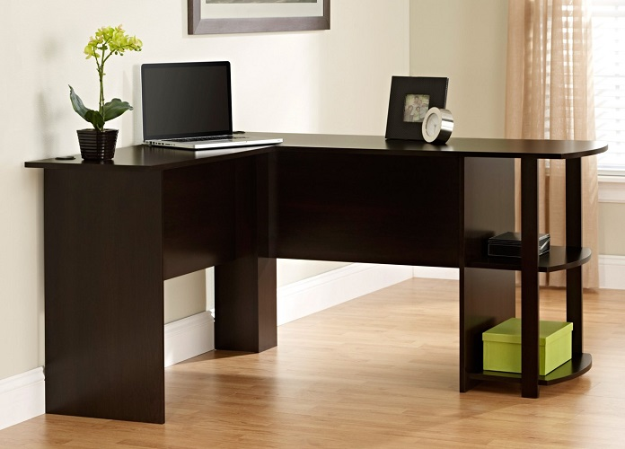 L-Shaped Desk with Side Storage $69.97 At Walmart