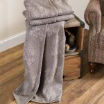Plow & Hearth Oversized Embroidered Wool Throw $24.97 Shipped