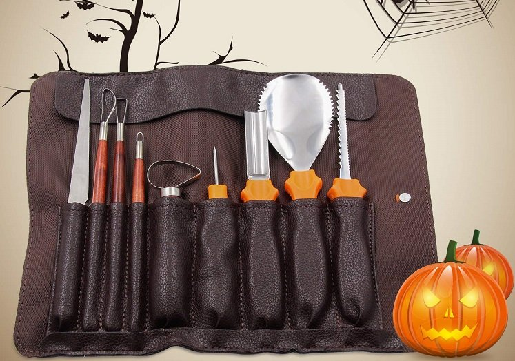 Pumpkin carving tools kit only on amazon w promo code