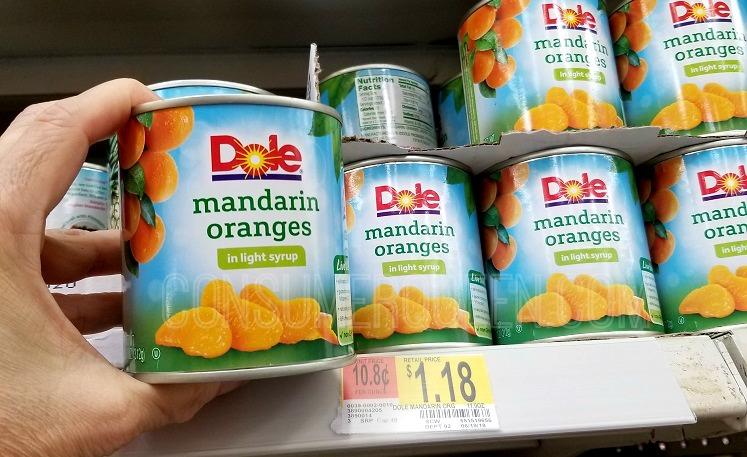 Dole Mandarin Oranges as Low as 56¢ at Walmart After Cash Back