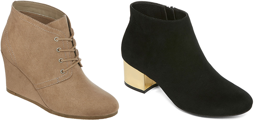 Women's Booties $18.74 at JCPenney (Reg. up to $60)